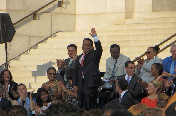Gil Cedillo at the City Inauguration.