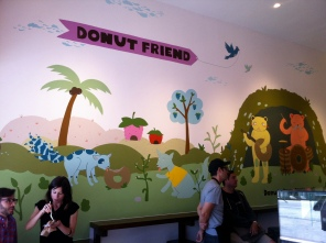 Happy donut mural by Saelee Oh.