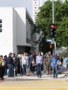 Yellow Continental Crosswalks = School Crossing.