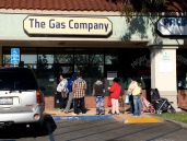 In line to pay the gas bill.