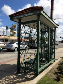The City of Huntington Park has its own bus shelters.