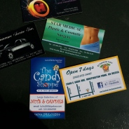 When you cross the Huntington Park border, you get all these business cards.