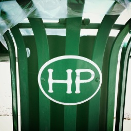Huntington Park trash can.