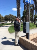 The most suspicious character in Huntington Park. (Just because he was using a payphone.)