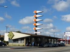 A classic Eldon Davis' Googie Norm's. Line out the door all morning.