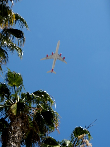 Under the LAX landing path.